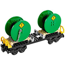 Lego City Cable Drum Reel Wagon Railway Carriage from Cargo Train (60052) NEW