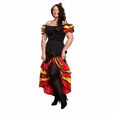 Spanish Rumba Flamenco Womens Fancy Dress Costume Outfit Plus Size UK 16-18