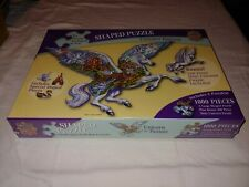 MasterPieces Unicorn Fantasy Shaped Jigsaw Puzzle 1000+200 Piece Rare Brand New!