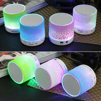 Bluetooth Wireless Mini Portable Speaker Bass for MP3 iPhone iPad PC + LED Light