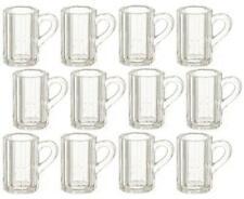 Dolls House Miniature Pub Bar Accessory Set 12 Beer Mugs Pint Glasses