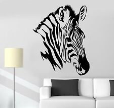 Vinyl Decal Wall Zebra Head African Animals Zoo Stickers (1087ig)