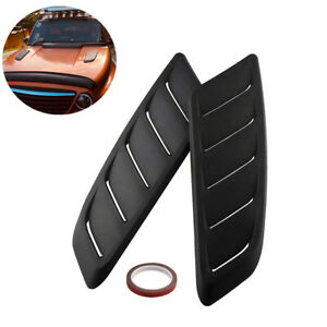Pair Universal Car Simulation Front Hood Vent Decor Sporty Side Air Flow Sticker