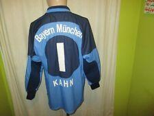 """FC Bayern München Adidas Torwart Trikot 2000/01 """"OPEL"""" + Nr.1 Kahn Gr.M- L TOP"""