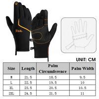 M/L/XL/2XL Windproof Waterproof Thermal Touch Screen Mens Winter Warm Gloves