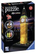 Big Ben Torre del Reloj Luz Noche Edition 3D Puzzle 216PC por Ravensburger-Nuevo
