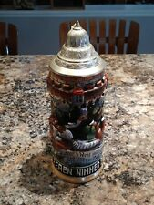 Collectible Drinkware Barware Beer Stein Lidded Germany ORIGINAL KING #7