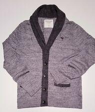 Mens Abercrombie & Fitch signature branded vintage designer plain cardigan -S