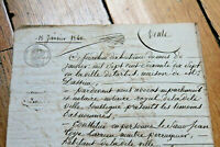 1840 sale manuscript contract document large nice calligraphy AUTHENTIC RARE