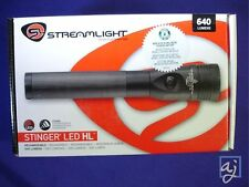 640 LUMENS Streamlight Stinger LED HL police flashlight 75432 w/12V DC Charger