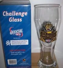 AFL RICHMOND TIGERS  CHALLENGE GLASS GIFT BOXED FOOTBALL 25CM 500ML