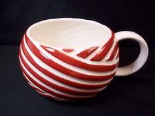 Starbucks Coffee mug peppermint twist candy cane red & white  2013 12 oz