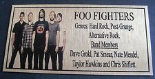 Foo Fighter Band Gold Plaque picture Free Post