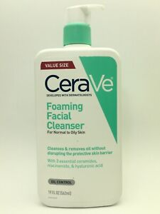 Skin Care Foaming Facial Cleanser Normal/Oily Skin CeraVe Value Size 19oz C18