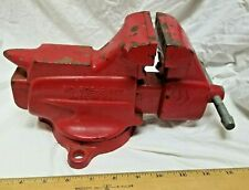 Craftsman Swivel Bench Vise 50651800 3 Jaws With Pipe Claws Anvil Usa