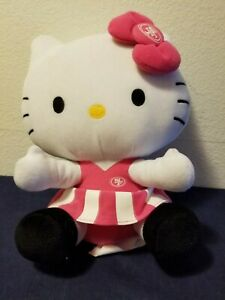 """49ers Plush Hello Kitty 10"""" Pink NFL Cheerleader Outfit Super BOWL San Francisco"""
