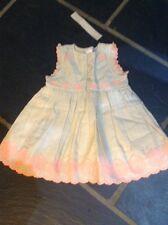 BNWT NEXT Embroidered Stone Beige Dress 3-6 Months