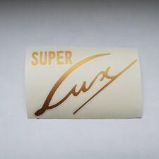 Adesivo * NSU * SUPER LUX * Oro * sticker decalcomania logo * Oldtimer Moto