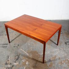 Mid Century Danish Modern Henning Kjaernulf Vejle Teak Draw Leaf Extending Wood