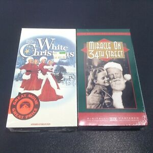 LOT 2 VTG VHS Irving Berlin's WHITE CHRISTMAS (NEW) 1990 + Miracle On 34th St.