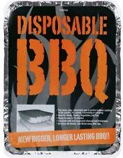 6x MONOUSO BARBECUE BBQ griglia a carbone accendi fuoco campeggio estate all'aperto