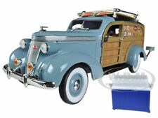 1937 STUDEBAKER WOODY WAGON BLUE 1:24 BY UNIQUE REPLICAS 18594