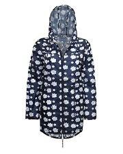 Ladies Waterproof Windproof Rain Coat Hot Pink Daisy Mac Flower Kagool Jacket XL