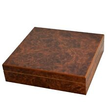 20 Capacity Brown Marble Desktop Travel Cedar Cigar Humidor + Humidifier C-15B