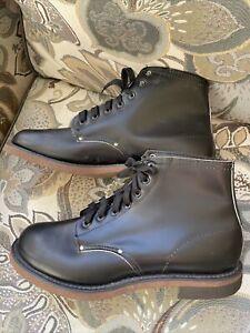 Vintage BiltRite Combat Biker Shoe Boots Men's Size 9 E  Black Lace Up NEW~WOWZA