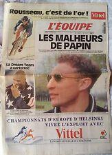 L'Equipe Journal du 16/08/1994; Rousseau c'est de l'or/ Les Malheurs de Papin