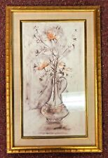 Edna Hibel Limited Edition Lithograph Signed - Single Vase of Flowers FRAMED