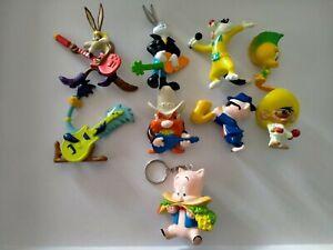 1994 Looney Tunes Figurine Rock Jam Band Musician Tweety Bugs Coyote Porky