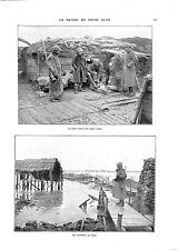 WWI Bataille de l'Yser Poste Avancé Ligne de Belgique Sentinelle  ILLUSTRATION