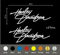 Harley Davidson script_ decals. 25 cm in length ( x 2 total )