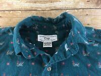Vtg 70s 80s GAP Flannel Shirt Mens Small Mallard Duck Print Hunting Lodge Cabin