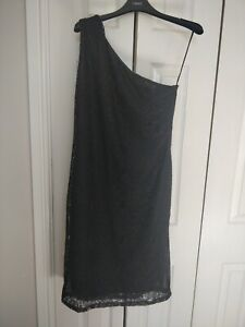 Ladies new Off The Shoulder Black Lace Dress, Fully Lined. Size 10. From next .