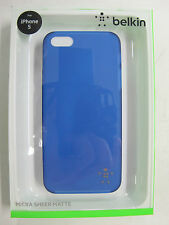 "QUALITY BELKIN ""Indigo"" Micra Sheer Matte Case for iPhone  F8W095qeC03 [F00]"