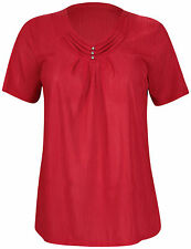 Short Sleeve V Neck Casual Tops & Shirts for Women