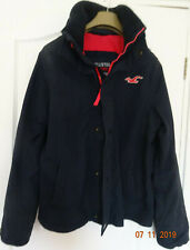 HOLLISTER MENS BLACK ALL WEATHER JACKET - SIZE S (SMALL)