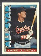 1990 Topps Baseball 'TV' Glossy All Star - #24 - Mickey Tettleton - Orioles