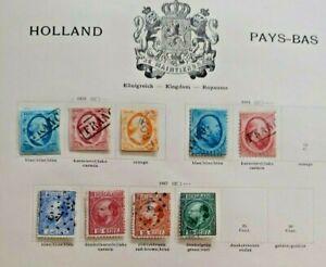 1852-1867 LOT NETHERLANDS NEDERLAND VF USED B400.4 START $0.99