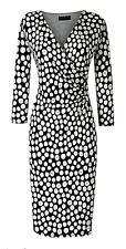 Bnwt Grace Mock Wrap Polka Spot Dress - UK 18 (R88)
