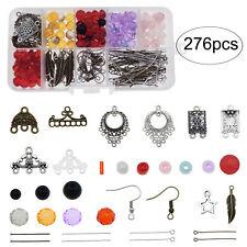 276pcs Crystal Acrylic Beads Earrings Ear Hooks Jewelry Making Accessories Kits