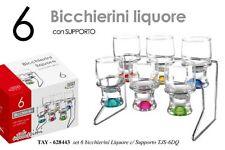 SET 6 BICCHIERINI LIQUORE CON SUPPORTO TAY-628443