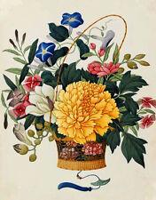 Needlework Counted Cross Stitch Chart PDF Flower Basket I