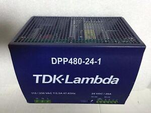 TDK Lambda Power Supply Dpp480-24-1 DC 24V 20A 110-230V In Din