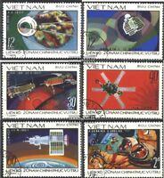 Vietnam 990-995 (kompl.Ausg.) gestempelt 1978 Eroberung des Weltraums