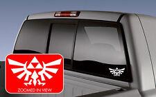 Legend of Zelda Hyrule Crest TriForce Vinyl Decal Laptop Window Sticker