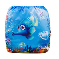 Reusable Modern Cloth Nappy + Microfibre insert, Baby – Underwater Sea Paradise