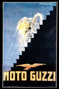 Moto Guzzi poster 1923 racing Circuito del Lario motorcycle photo photograph
